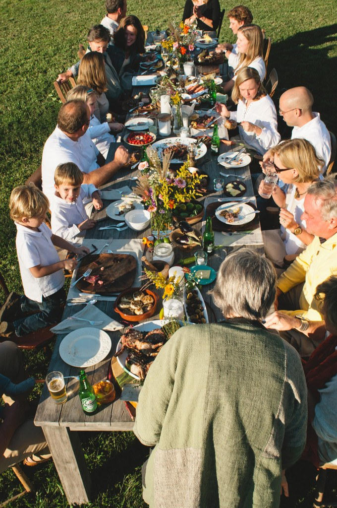 Family gathering to celebrate the revival of salt on the family Farm.