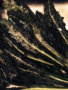 Washing kale